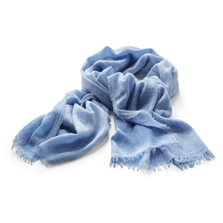 Damenschal Kaschmir-Baumwolle, Bleu