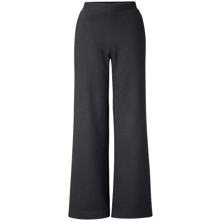 Damen-Jerseyhose weites Bein, Schwarz