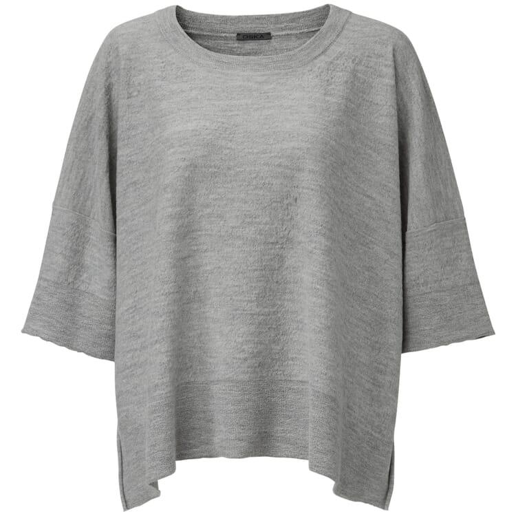 Damen-Oversizepullover, Graumelange