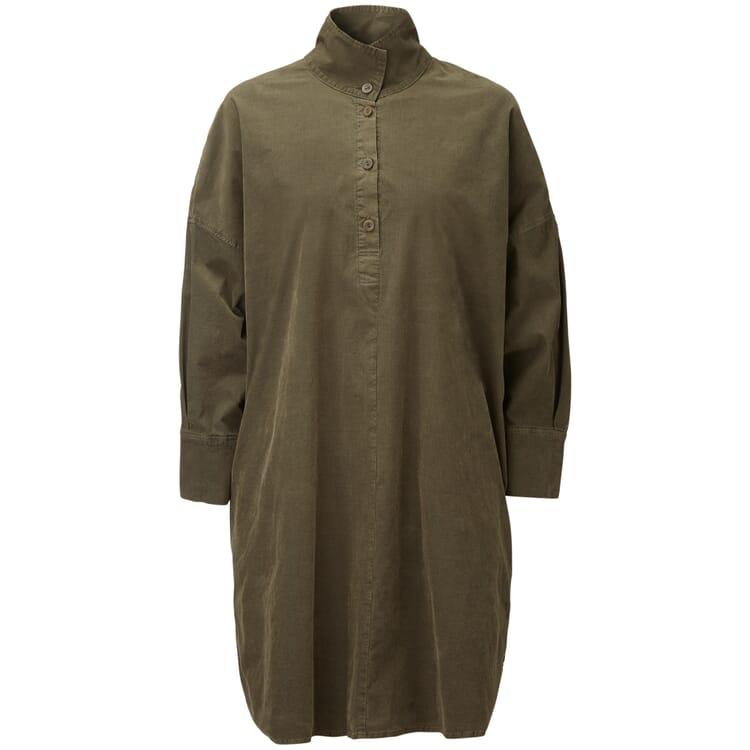 Damenkleid Feincord Oversize, Grün