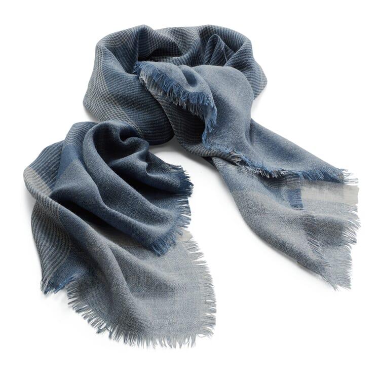 Halstuch Alpaka-Seide, Blau-Beige