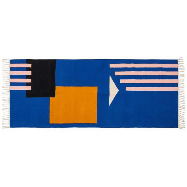 Teppich Luca, Blau-Orange