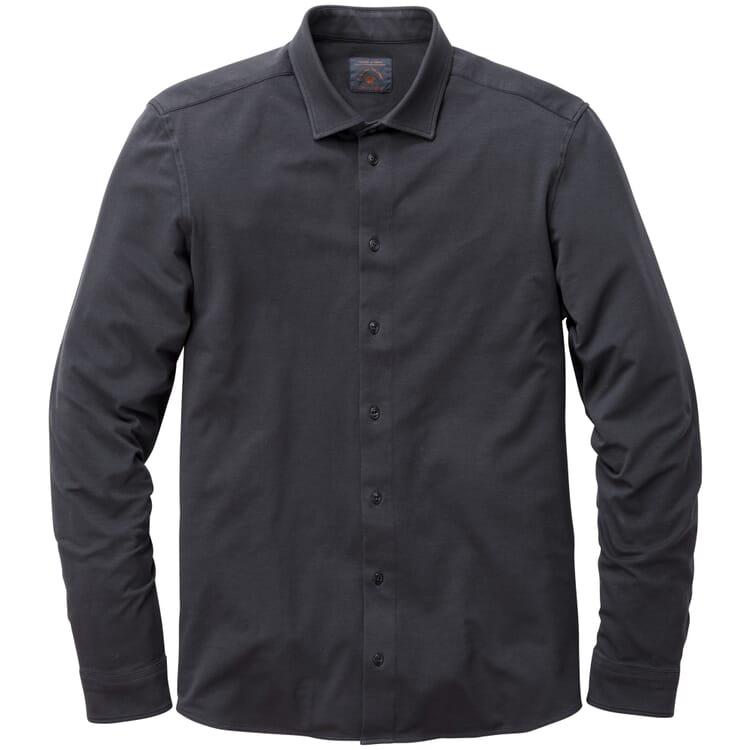 Herren-Jerseyhemd, Dunkelblau