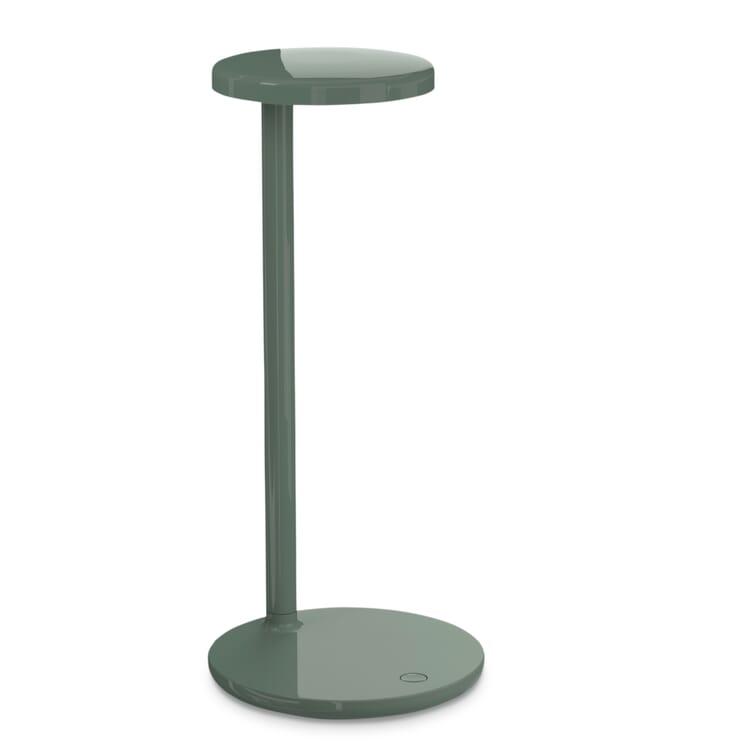 Tischleuchte Oblique, Salbei, glänzend