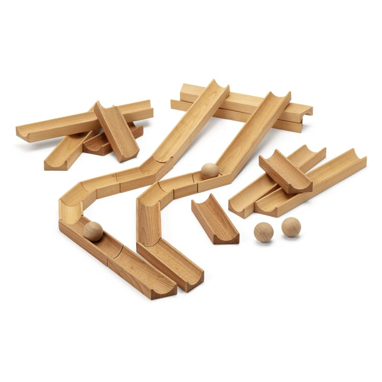 Holzkugel-Murmelbahn