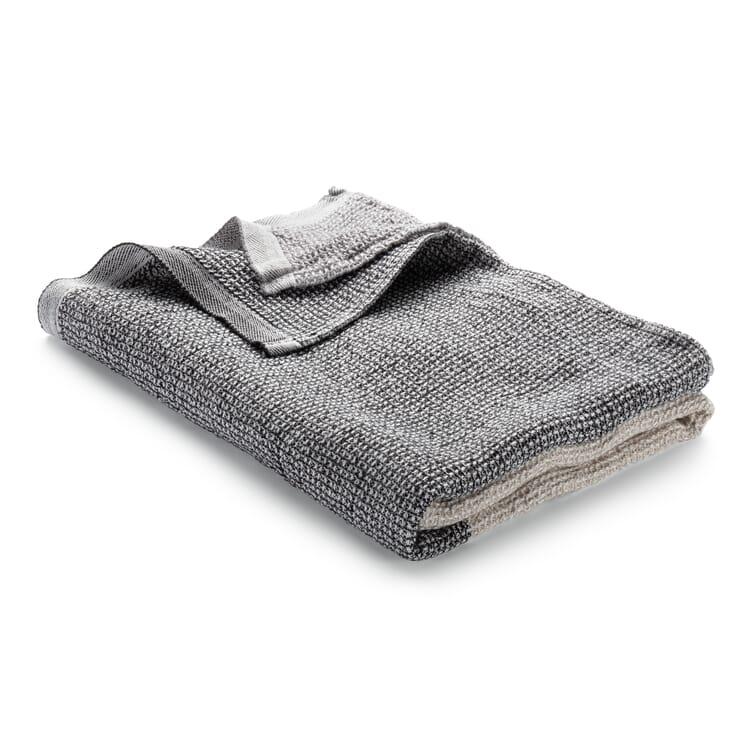 Waffle Piqué Towel Lyocell Linen, Beige-Grey