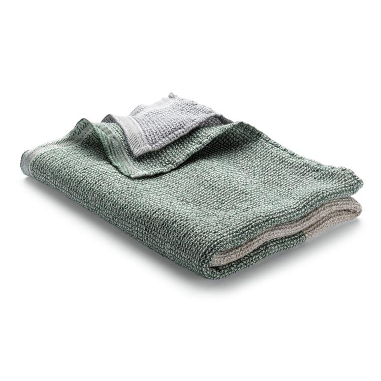 Waffle Piqué Towel Lyocell Linen, Beige-Green-Light Grey