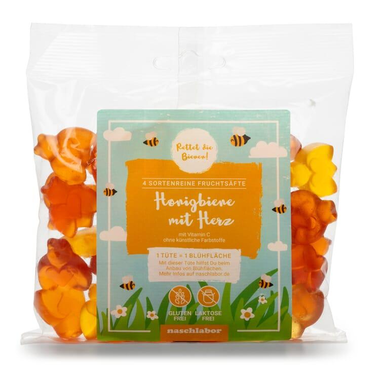 Honigbienen mit Herz