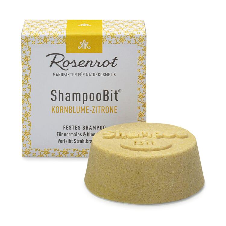 Festes Shampoo Damen, Kornblume-Zitrone
