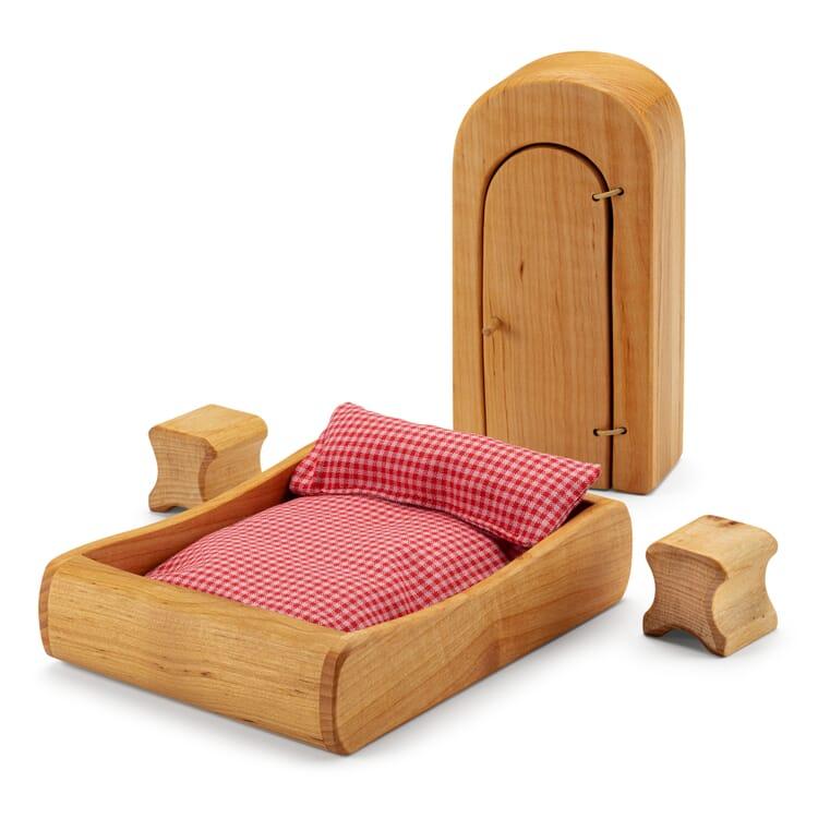 Puppenhaus-Möbelset Schlafzimmer