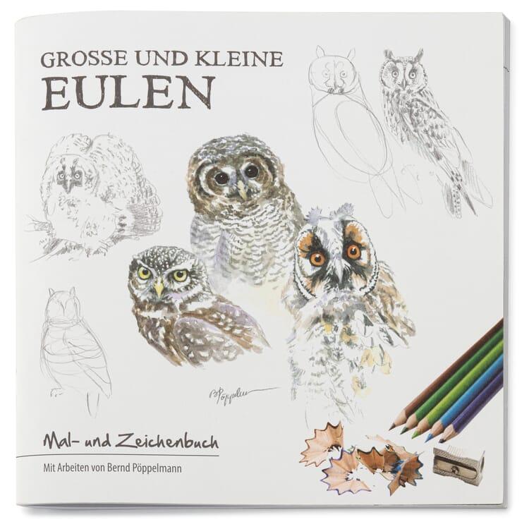 Mal- und Zeichenbuch, Eulen