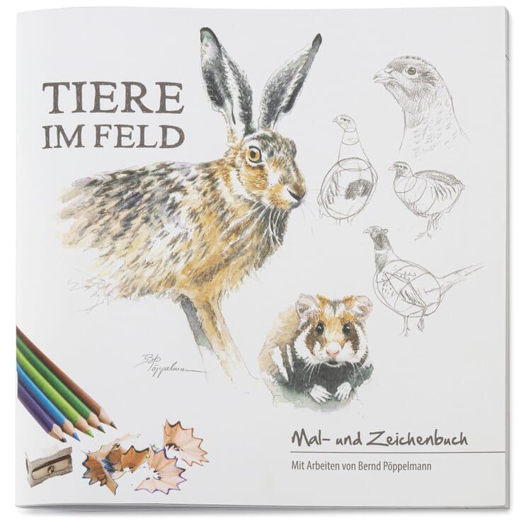 Mal- und Zeichenbuch, Tiere im Feld