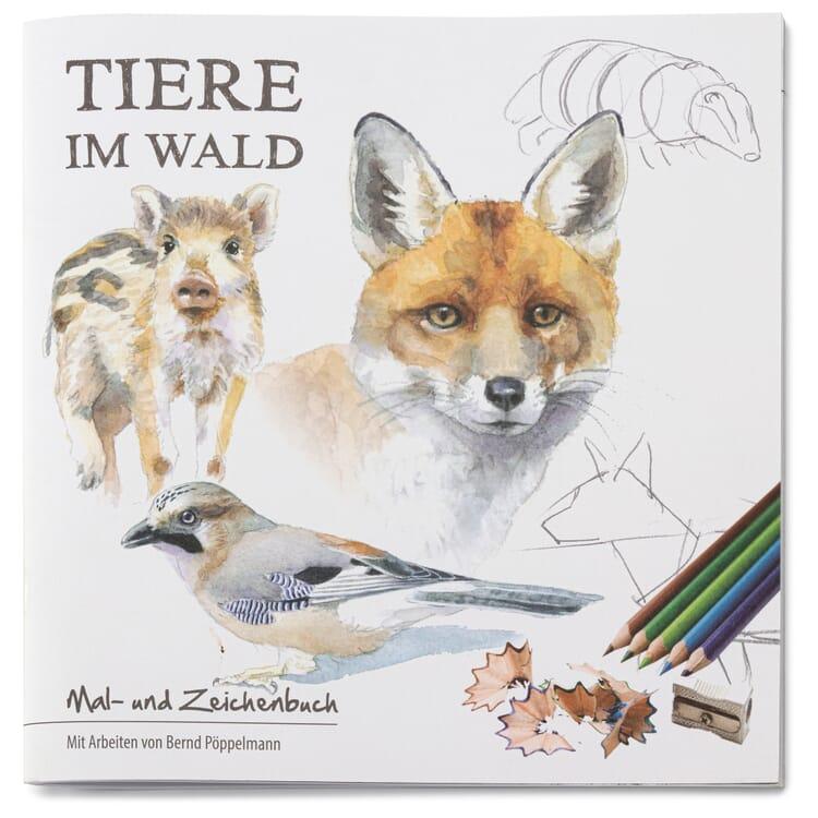 Mal- und Zeichenbuch, Tiere im Wald