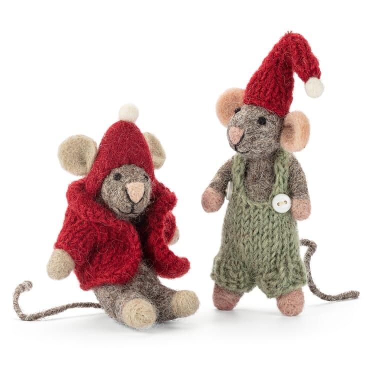 Mäusepuppen Filz 2er-Set